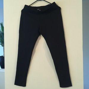 Pants - STRETCH BLACK LEGGINGS SKINNY FITTED PANTS ELASTIC
